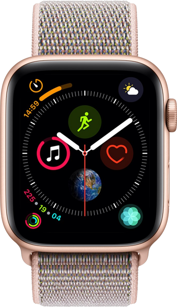 40mm Apple Watch Gold Aluminium | Pink Sand Sport Loop - Series 4
