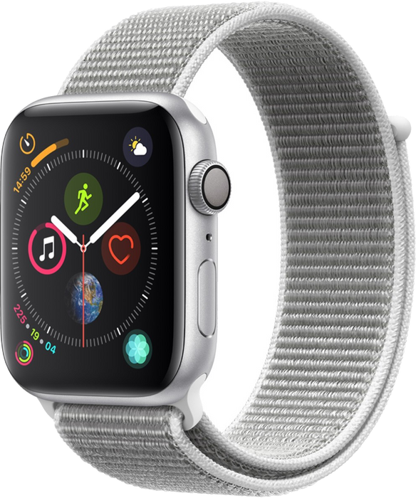 40mm Apple Watch Silver Aluminium | Seashell Sport Loop - Series 4
