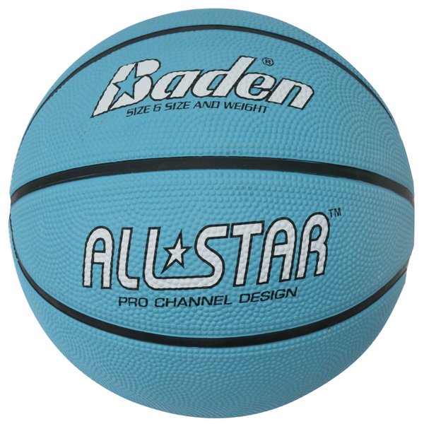 Baden All Star Basketball Size 6 Light Blue - Sport Essentials