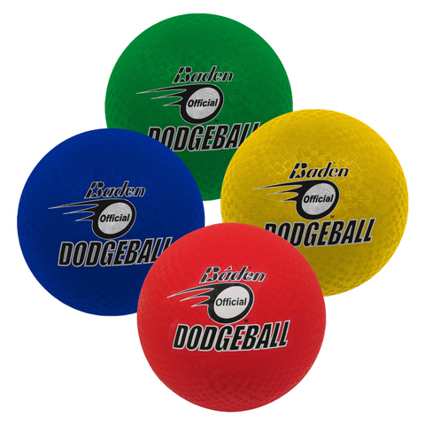 Baden Dodgeballs in Red, Blue, Yellow and Green - Sport Essentials