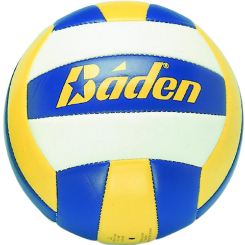 Baden indoor/beach blue, yellow and white volleyball