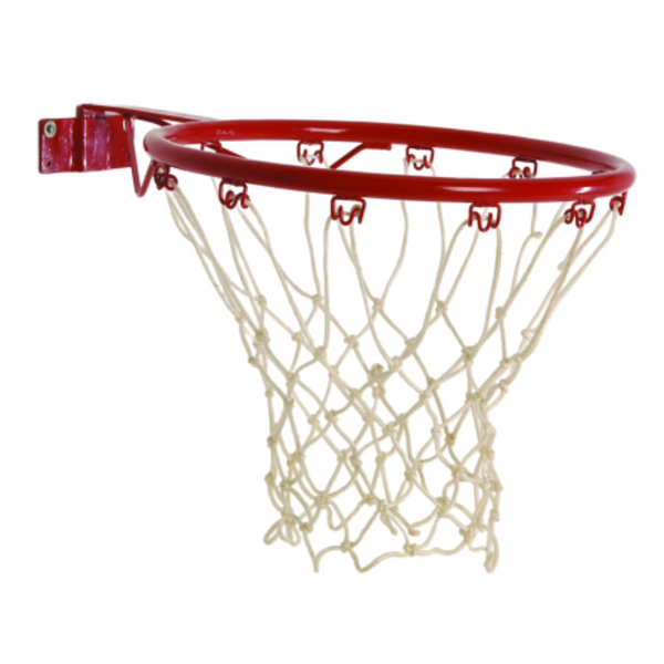 SureShot Removable netball unit, white netting and red ring