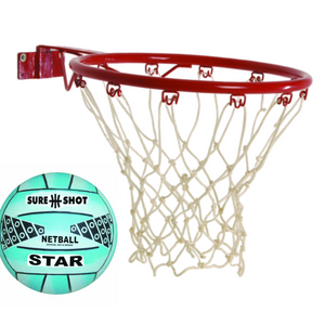 Sure Shot red ring and net with SureShot blue netball