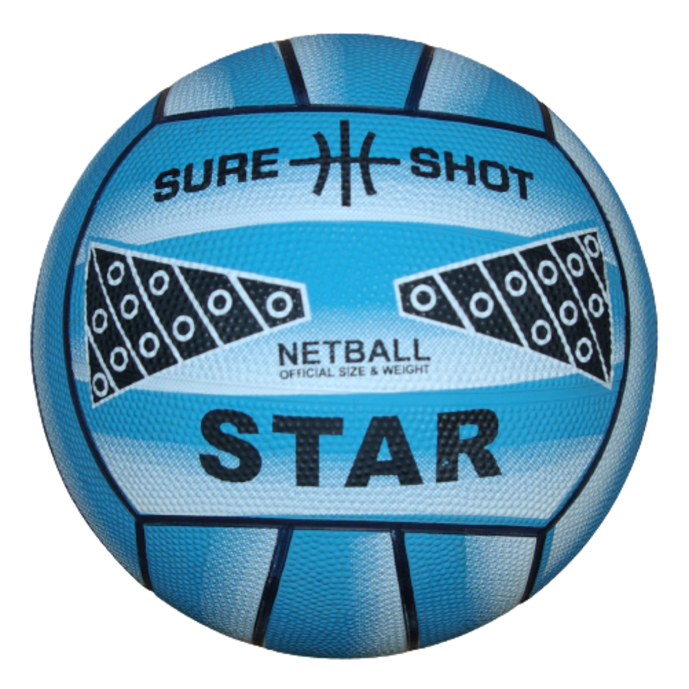 Sure Shot Star Netball in blue - Sport Essentials