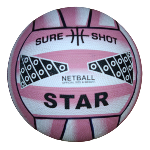 Sure Shot Star Netball in pink - Sport Essentials