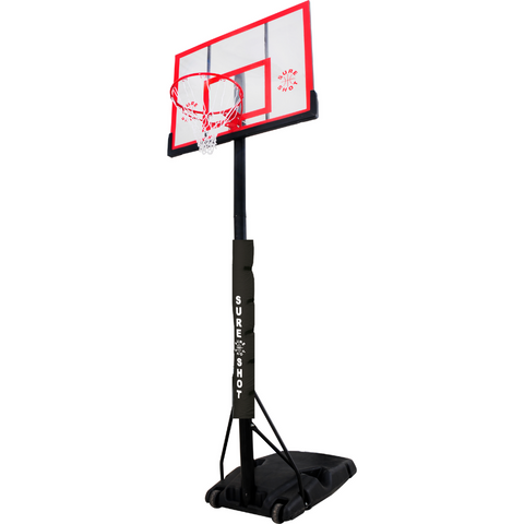 Sure shot portable basketball unit with acrylic backboard