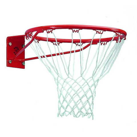 Sure Shot Institutional Basketball red Ring and white  Net - Sport Essentials