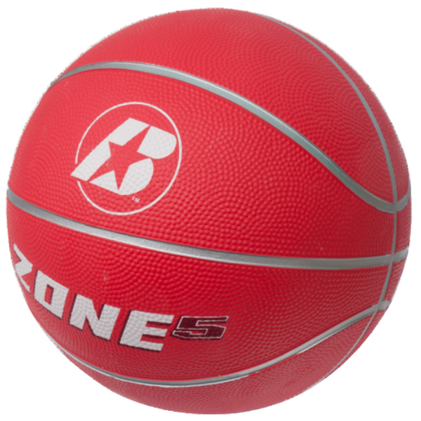 Zone Size 5 red rubber basketball - Sport Essentials