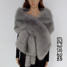 Load image into Gallery viewer, Faux Fur Stole/Shawl/Pashmina