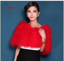 Load image into Gallery viewer, Authentic Ostrich Fur Stole- Multiple Colors Available