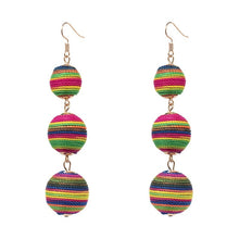 Load image into Gallery viewer, Statement Pom Pom Drop Earrings