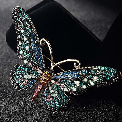 Vintage Butterfly Brooch in Various Colors