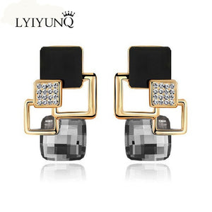 Unique Geometric Earrings in Various Colors