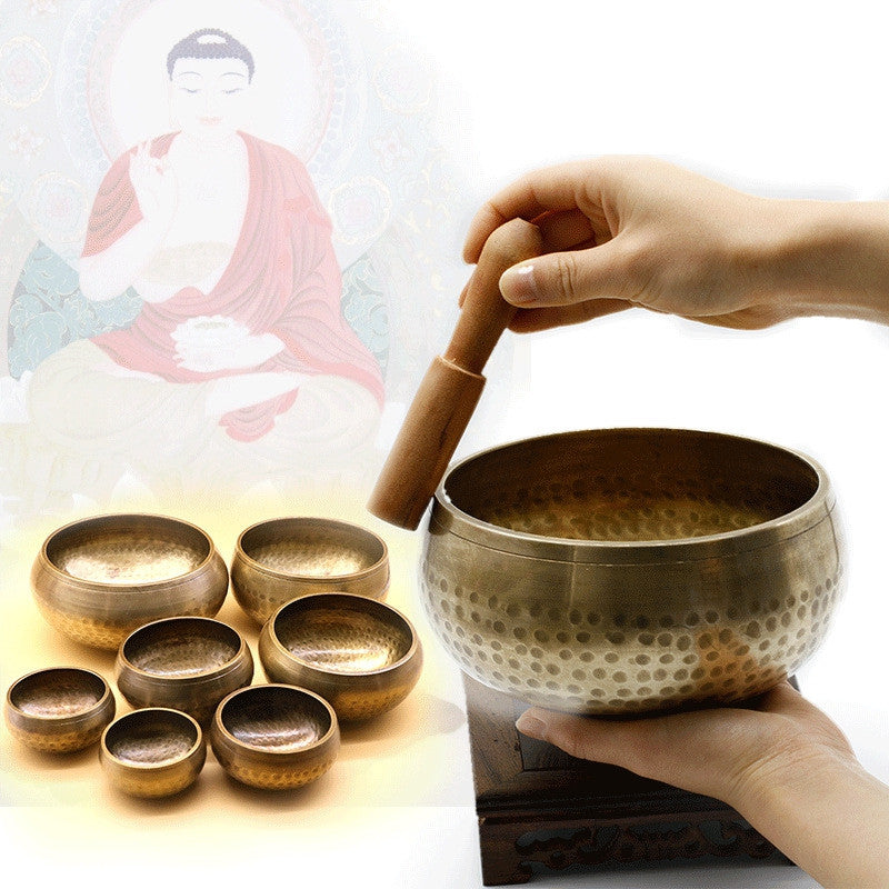 Copper Tibetan Singing Bowl Set