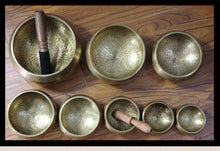 Load image into Gallery viewer, Copper Tibetan Singing Bowl Set