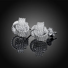 Load image into Gallery viewer, 925 Sterling Silver Knotted Stud Earrings