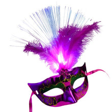 Load image into Gallery viewer, Halloween Venetian LED Mardis Gras Masquerade Mask