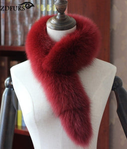 Authentic Fox Fur Collar/Scarf- Multiple Colors Available