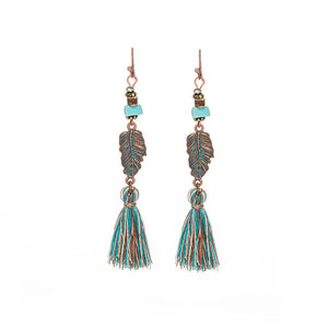 Vintage Bohemian Tassel Earrings in Various Colors & Styles