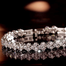 Load image into Gallery viewer, Crystal CZ Silver Bracelet