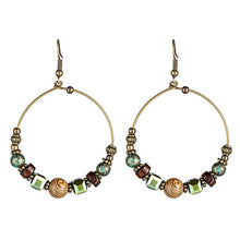 Load image into Gallery viewer, Bohemian Beaded Hoop Earrings