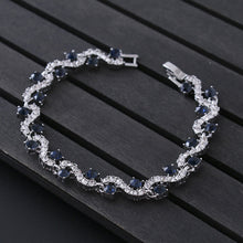 Load image into Gallery viewer, Crystal Silver Rhinestone Bracelet in Various Colors