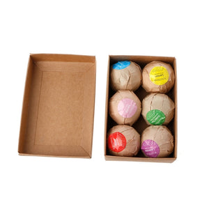 6 pc Organic Bath Bombs- Bath Salts/Bubble Bath