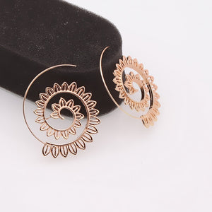 Bohemian Gold Hoop Earrings