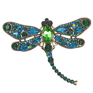 Vintage Dragonfly Brooch in Various Colors