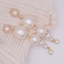 Load image into Gallery viewer, Pearl Drop Statement Earrings