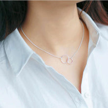 Load image into Gallery viewer, 925 Sterling Silver Interlocking Circle Clavicle Short Necklace