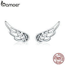 Load image into Gallery viewer, Charming 925 Sterling Silver Fairy/Angel Wing Earrings