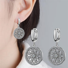 Load image into Gallery viewer, 925 Sterling Silver Dreamcatcher Drop Earrings