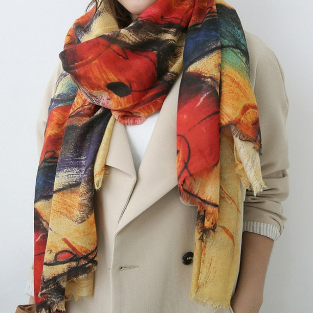 Lovely Multi-Color Abstract Scarf