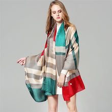 Load image into Gallery viewer, Multi-Color Plaid Pashmina- Multiple Colors Available
