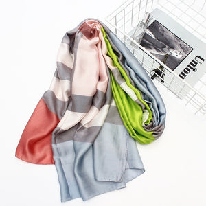 Multi-Color Plaid Pashmina- Multiple Colors Available