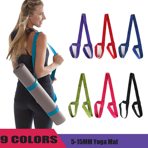 Yoga Mat Adjustable Carry Strap in Multiple Colors