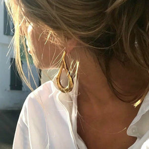 Gold Statement Drop Earrings