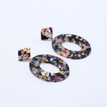 Load image into Gallery viewer, Statement Oval Dangle Earrings in Various Colors