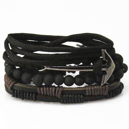 Muti-Layer Leather/Beaded Bracelet in Various Colors and Styles