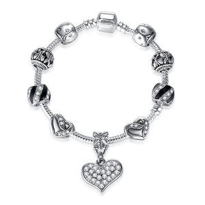 925 Silver Charm Bracelet in Various Sizes and Styles
