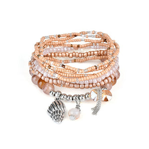 Bohemian Multi-Layer Tassel Charm Bracelet in Various Styles and Colors