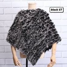 Load image into Gallery viewer, Knitted Furry Poncho- Multiple Colors Available