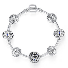 Load image into Gallery viewer, 925 Silver Crystal Beaded Bracelet in Various Sizes and Colors