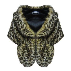 Elegant Faux Fur Stole/Poncho- Multiple Colors Available