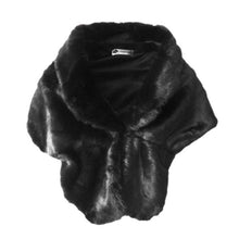 Load image into Gallery viewer, Elegant Faux Fur Stole/Poncho- Multiple Colors Available