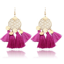 Load image into Gallery viewer, Bohemian Vintage Tassel Earrings in Various Colors