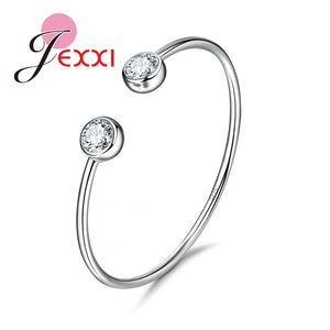 925 Sterling Silver CZ Bangle