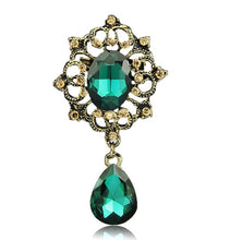 Load image into Gallery viewer, Vintage Drop Brooch in Various Colors