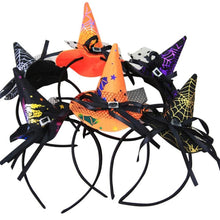 Load image into Gallery viewer, Halloween Witches Headband Hat